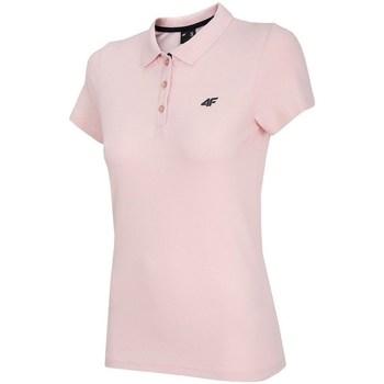 Oblačila Ženske Polo majice kratki rokavi 4F TSD007 Roza