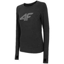 Oblačila Ženske Majice z dolgimi rokavi 4F TSDLF001 Črna