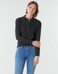 Oblačila Ženske Polo majice dolgi rokavi Lacoste PF5464 Črna