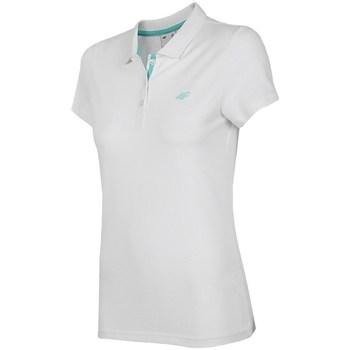 Oblačila Ženske Polo majice kratki rokavi 4F TSD007 Bela