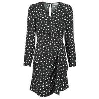 Oblačila Ženske Kratke obleke Betty London NOELINE Črna / Bela