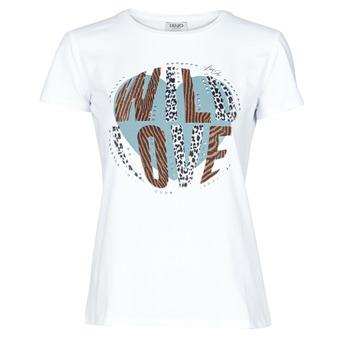 Oblačila Ženske Majice s kratkimi rokavi Liu Jo WF0098-J5003 Bela
