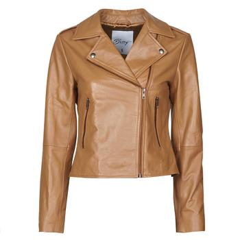 Oblačila Ženske Usnjene jakne & Sintetične jakne Betty London NROCK Cognac