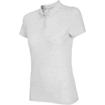 Oblačila Ženske Majice s kratkimi rokavi 4F NOSH4 TSD007 Biały Melanż Bela, Siva