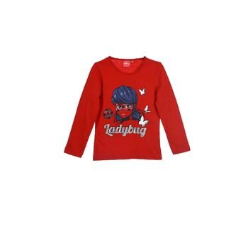 Oblačila Deklice Majice z dolgimi rokavi TEAM HEROES  MIRACULOUS LADYBUG Rdeča