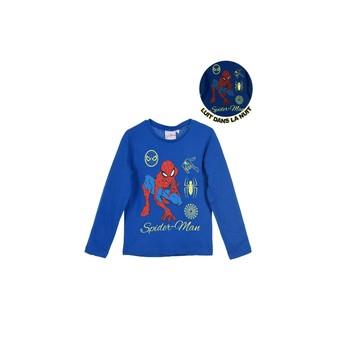Oblačila Dečki Majice z dolgimi rokavi TEAM HEROES  SPIDERMAN Modra
