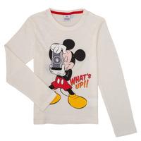 Oblačila Dečki Majice z dolgimi rokavi TEAM HEROES  MICKEY Bela