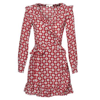 Oblačila Ženske Kratke obleke MICHAEL Michael Kors LUX PINDOT WRAP DRS Bordo