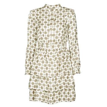 Oblačila Ženske Kratke obleke MICHAEL Michael Kors LUX MEDLN PINDOT DRS Bež