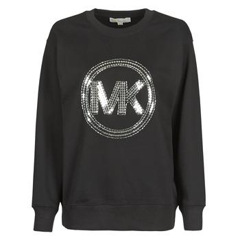 Oblačila Ženske Puloverji MICHAEL Michael Kors MK CRCL CLSC SWTSHRT Črna