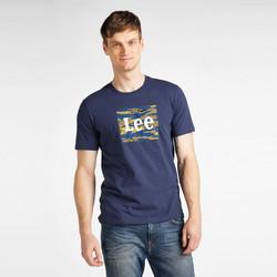 Oblačila Moški Majice s kratkimi rokavi Lee T-shirt  Camo Package Dark Navy bleu marine/jaune/blanc