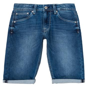 Oblačila Dečki Kratke hlače & Bermuda Pepe jeans CASHED SHORT Modra