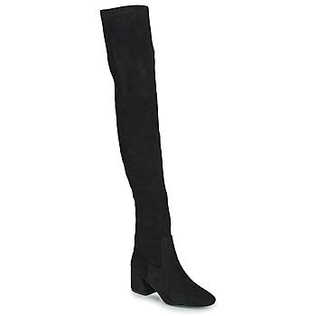 Čevlji  Ženske Visoki škornji Vanessa Wu CUISSARDES HAUTES Črna
