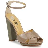 Čevlji  Ženske Sandali & Odprti čevlji Keyté KRISTAL-26722-TAUPE-FLY-3 Taupe