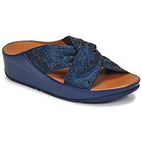 Čevlji  Ženske Sandali & Odprti čevlji FitFlop TWISS CRYSTAL SLIDE Modra