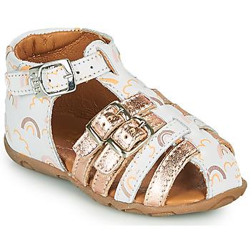 Čevlji  Deklice Sandali & Odprti čevlji GBB RIVIERA Bela / Rožnata / Zlata