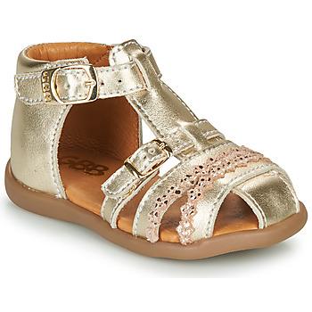 Čevlji  Deklice Sandali & Odprti čevlji GBB ALIDA Pozlačena