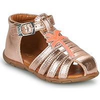 Čevlji  Deklice Sandali & Odprti čevlji GBB ANAYA Vte / Zlata / Rožnata / Dpf / Zabou