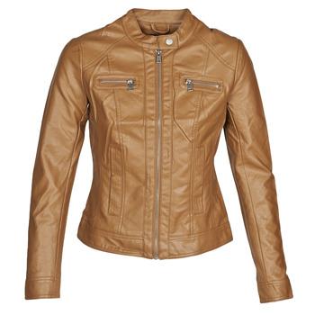 Oblačila Ženske Usnjene jakne & Sintetične jakne Only ONLBANDIT Cognac