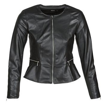 Oblačila Ženske Usnjene jakne & Sintetične jakne Only ONLJENNY Črna