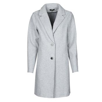 Oblačila Ženske Plašči Only ONLCARRIE BONDED Siva