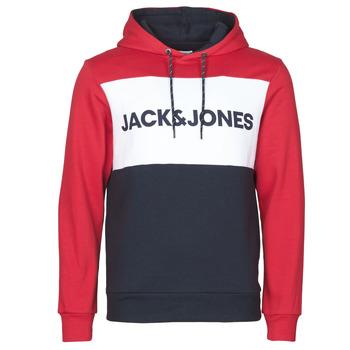 Oblačila Moški Puloverji Jack & Jones JJELOGO BLOCKING Rdeča