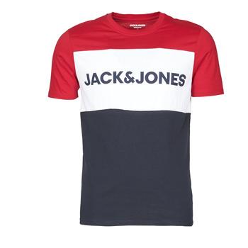 Oblačila Moški Majice s kratkimi rokavi Jack & Jones JJELOGO BLOCKING Rdeča