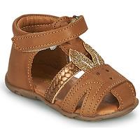 Čevlji  Deklice Sandali & Odprti čevlji GBB FADIA Vte / Camel-or / Dpf / Zabou