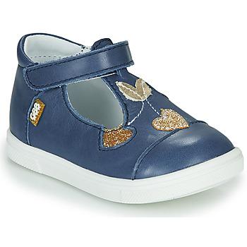 Čevlji  Deklice Balerinke GBB EMILA Modra