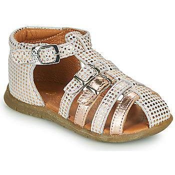 Čevlji  Deklice Sandali & Odprti čevlji GBB PERLE Bela / Rožnata / Zlata