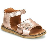 Čevlji  Deklice Sandali & Odprti čevlji GBB SATIA Vte / Zlata / Rožnata / Dpf / Vipera