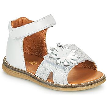 Čevlji  Deklice Sandali & Odprti čevlji GBB SATIA Bela / Srebrna