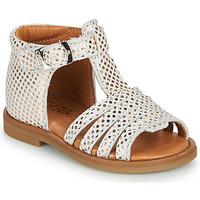 Čevlji  Deklice Sandali & Odprti čevlji GBB ATECA Bela / Rožnata / Zlata