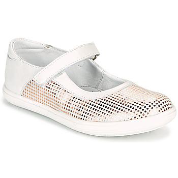Čevlji  Deklice Balerinke GBB PLACIDA Bela