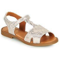 Čevlji  Deklice Sandali & Odprti čevlji GBB FARENA Bela / Rožnata / Zlata