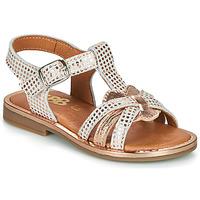 Čevlji  Deklice Sandali & Odprti čevlji GBB EGEA Bela / Rožnata / Zlata