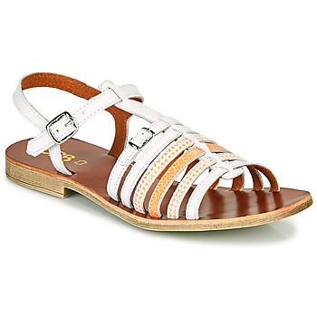 Čevlji  Deklice Sandali & Odprti čevlji GBB BANGKOK Bela / Oranžna