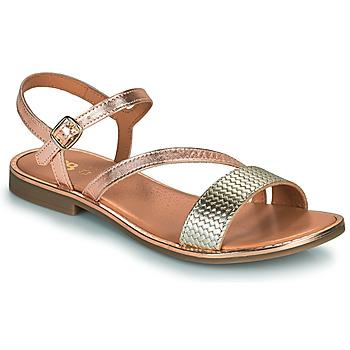 Čevlji  Deklice Sandali & Odprti čevlji GBB FANA Rožnata / Zlata / Pozlačena