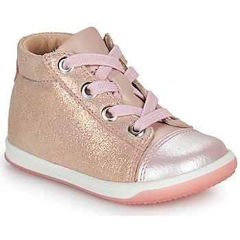 Čevlji  Deklice Visoke superge Little Mary VITAMINE Rožnata
