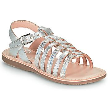 Čevlji  Deklice Sandali & Odprti čevlji Little Mary BARBADE Srebrna