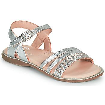 Čevlji  Deklice Sandali & Odprti čevlji Little Mary LIME Srebrna
