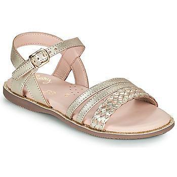 Čevlji  Deklice Sandali & Odprti čevlji Little Mary LIME Pozlačena