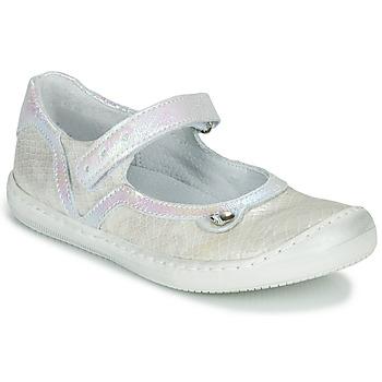 Čevlji  Deklice Balerinke Little Mary BRILLANTE Kremno bela