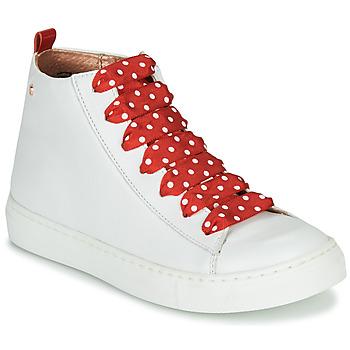 Čevlji  Deklice Visoke superge Little Mary SASHA (VE014) Bela / Rdeča