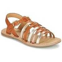 Čevlji  Deklice Sandali & Odprti čevlji Little Mary BARBADE Cognac / Rožnata