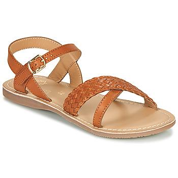 Čevlji  Deklice Sandali & Odprti čevlji Little Mary LIANE Cognac