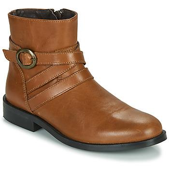 Čevlji  Deklice Polškornji Little Mary TIMOTHY Cognac