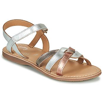 Čevlji  Deklice Sandali & Odprti čevlji Little Mary LIGHT Srebrna / Bronze / Rožnata / Zlata