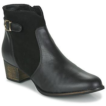 Čevlji  Ženske Gležnjarji So Size SERELLE Črna