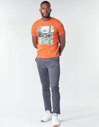 Oblačila Moški Hlače Chino / Carrot Jack & Jones JJIMARCO Siva